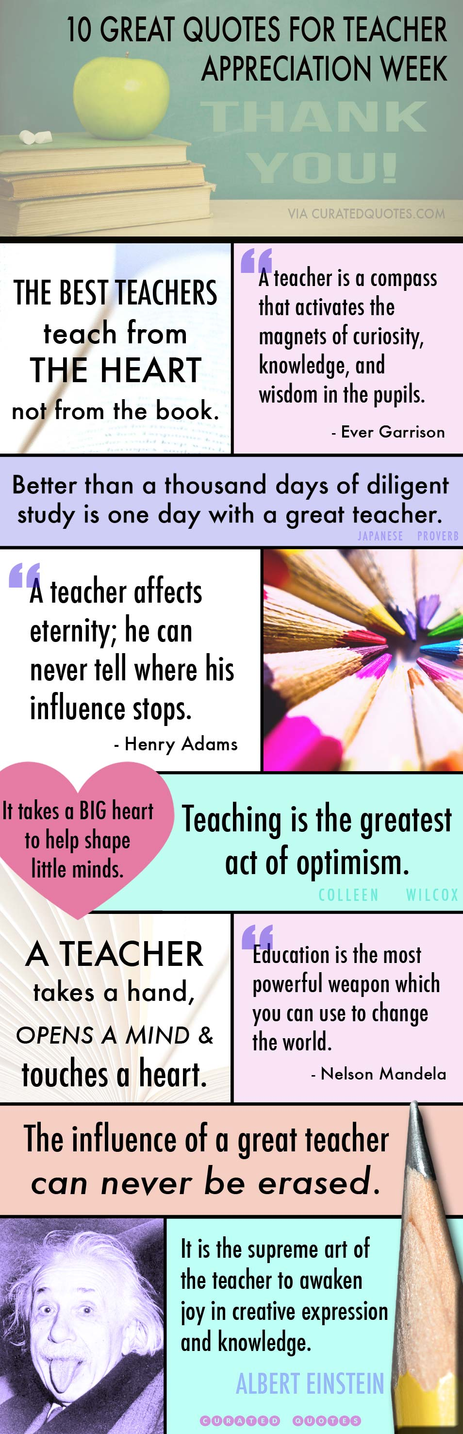 Educator Quotes | 32 Thank You Quotes For Teachers Curated Quotes